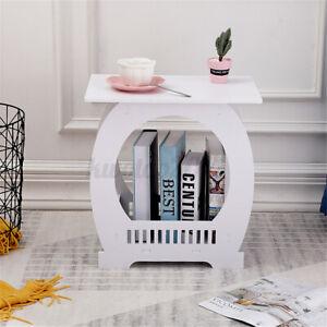 Bedroom Nightstand Beside Side End Table Modern Organizer with Basket Storage