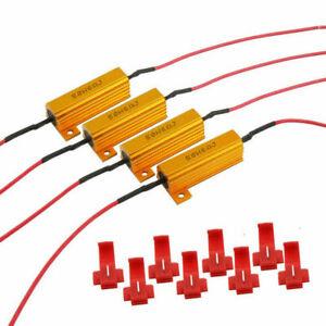 4x LED Indicator Ballast Load Resistor Flash Rate Relay Turn Signal Bulb 50W UK