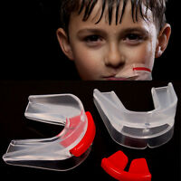 Transparent Doppel Zahnschutz Doppel-Mundschutz Profi für Sport Boxen Muay W0H9