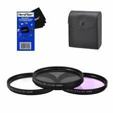 58mm Multi-Coated professional 3 Piece Lens Filter Kit (UV-CPL-FLD)