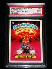 GARBAGE PAIL KIDS 1985 1st Series #8b Blasted Billy (CHECK) MATTE Graded PSA 9ST