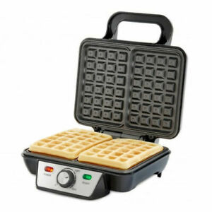 2 Slice Deep Fill Waffle Maker with XL Non-Stick Cooking Plates 1000W Electric
