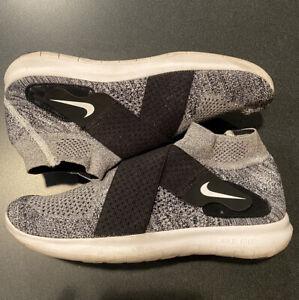 Nike Free RN Motion FK 2017 Oreo Run Natural Flyknit [880845-001] Men's Size 10