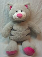 "Build-A-Bear CUTE GRAY STRIPED TABBY CAT 16"" Plush STUFFED ANIMAL Toy"