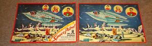 Rare Vintage 1950's  Space Patrol Inlaid Tray Puzzle with Paper Wrapper WOW LOOK