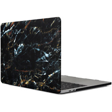 MacBook Pro 13 Inch Protective Hard Case Soft Touch Cover Classy Black Marble