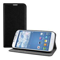 kwmobile Wallet Schutz Hülle für Samsung Galaxy S4 Schwarz Case Kunstleder Etui