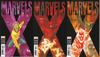 2020 Marvel Comics Marvels X  #1 2 & 3 Alex Ross 3 Book Lot