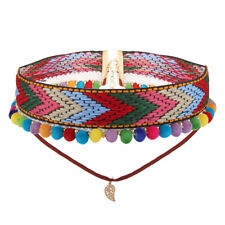 Fashion Bohemian Boho Multi-Color Fur Ball Choker Collar Necklace For Women