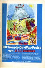3 Musketiers -100 Wünsch dir was Preise-Gezeichnet Olaf Block-- Werbung von 1973