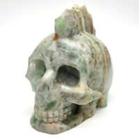 "5.1"" Large Skull Healing Crystal Natural Gemstone Fluorite Stone Carved Decor"