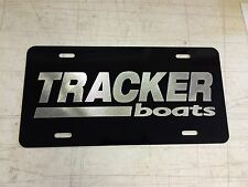 Tracker Boats LOGO Car Tag Diamond Etched on Aluminum License Plate