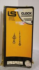 """VINTAGE CLOCK HANDS HOUR & MINUTE INNOVATION SPECIALTIES GOLD TONE 2.25"""" & 1.6"""""""