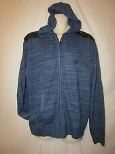 mens rocawear sweater jacket hoodie L nwt $68 blue