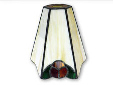 Tiffany Style Pendant Lampshade Leaded Stained Glass light Flowery fitting