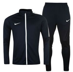 Nike Sports Football Tracksuit Jacket And Trousers Blue Navy White all Sizes New