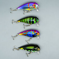 4pcs Lot Crank Bait Wobbler Fishing Lures Bass CrankBait Fishing Tackle 9g/5.5cm