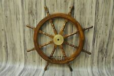 36' Large Antique handmade nautical Wooden Maritime Decor Captains Ships Wheel