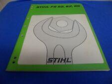 (Drawer 30) Stihl FS 52 62 66 Brush Cutter Shop Repair Service Manual