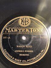 78 Rpm; Jazz / Blues; Lenzberg's Riverside Orch. Wabash Blues & Ma ; Mastertone