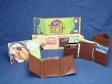 Vintage 91 JOE CAMEL Genuine Leather Slim Brown Tri-Fold WALLET + BOX & Catalog+