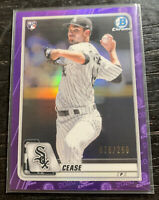 Dylan Cease RC Purple Refractor 76/250 2020 Bowman Chrome #72 Chicago White Sox