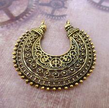 8 pcs-Antique Gold Lustre Boucle d'oreille composant, connecteur pendentif filigrane