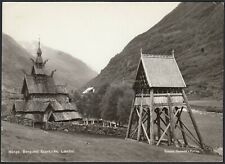 AB1000 Norway - Lardal - Borgund Stavkirke - Vintage Postcard - Cartolina