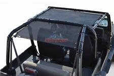 Steinjager J0045505 Black Teddy Top Solar Screen for 87-95 Jeep Wrangler YJ rear
