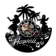 Summer Time Vinyl Record Wall Clock USA Hawaii Beach Wall Clock Decor Wall Watch