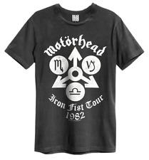 Motorhead Camiseta Amplified Oficial Puño de Hierro Tour Lemmy Kilmister 1982 Ventilador