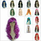 Adult Child Colorful Long Wavy Curly Cosplay Costume Party Unisex Full Wig 50CM
