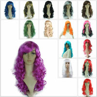 Colorful 50CM Wavy Curly Long Cosplay Costume Anime Party Full Wigs Adult/Child