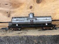 HO Scale Shell SCCX 1260 Single Dome Tanker Train Car Railroad Silver