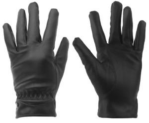 Unisex Ladies Mens Leather Gloves Driving Winter Warm Fleece Lined Waterproof