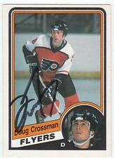 DOUG CROSSMAN Autographed Signed 1984-85 OPC card Philadelphia Flyers COA