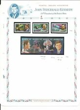 Maldive Islands Collection, John F. Kennedy on 4 White Ace Pages, Mint NH