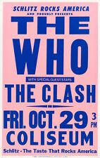 La OMS/el choque-los Angeles cliseum 1982 Concierto Cartel calidad de impresión