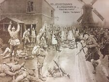 Early French Postcard Scottish Soldiers Hands Up Patriotic WWI WW1 Military