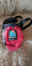 """PrAna Bouldering Bag Unique Sequined flowers Red Black signed, """"Sharmafund"""""""