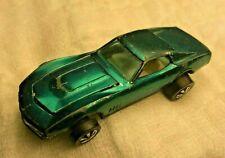 Hot Wheels Red Line 1967 Custom Corvette Aqua Blue Green redline HK base RARE!