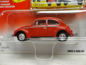 Johnny Lightning VW VOLKSWAGEN BUG Red w/RR CLASSIC PLASTIC
