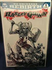 HARLEY QUINN #1 REBIRTH MANAPUL B&W VARIANT LIMITED 1500  NM $0.99 Auction