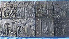 cast metal tiles fire surround kitchen trivet mining scenes
