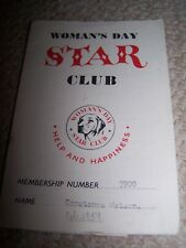 Children's Star Club Membership Card and Letter-1959