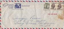 Stamps 2/6 Aboriginals uprated on Oceanic Steamship Co advertising airmail cover