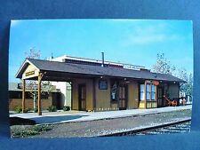 Postcard CA La Mesa The La Mesa Depot Railway Railroad