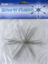 "5 Packs SNOWFLAKE Wire FORM 4-1/2"" Total 35 pieces You Add Beads Dream Catchers"