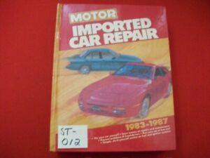 VINTAGE 1983-87 MOTOR'S IMPORTED CAR REPAIR & MAINTENANCE MANUAL AUDI PORSCHE ++