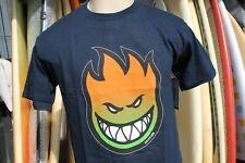 Spitfire Skateboard Wheels Flame Head Green Orange Thrasher Medium Black T-Shirt
